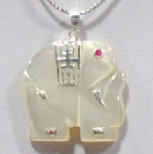 Jewelr 005322 Charming white elephant pendant necklace(China)