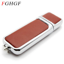 FGHGF Leather USB Flash Drive pen drive 4GB 8GB 16GB 32GB commercial Pendrive fashion Memory stick u disk