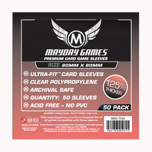50 PCS/Bag Mayday Card Game Sleeve 125% Thicker  80*80mm Square Size MDG Transparent Card Protector  Board Game Sleeve