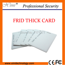 2MM thickness EM4200 chip for access control time attendance 125KHZ RFID read distance 8-10 cm proximity smart ID thick card