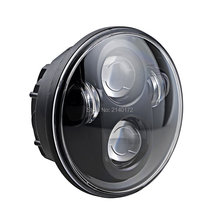 Harley 883 iron sportster 5.75'' Round led light 5 3/4 inch Black LED Projector Daymaker headlight High/Low Beam(China)
