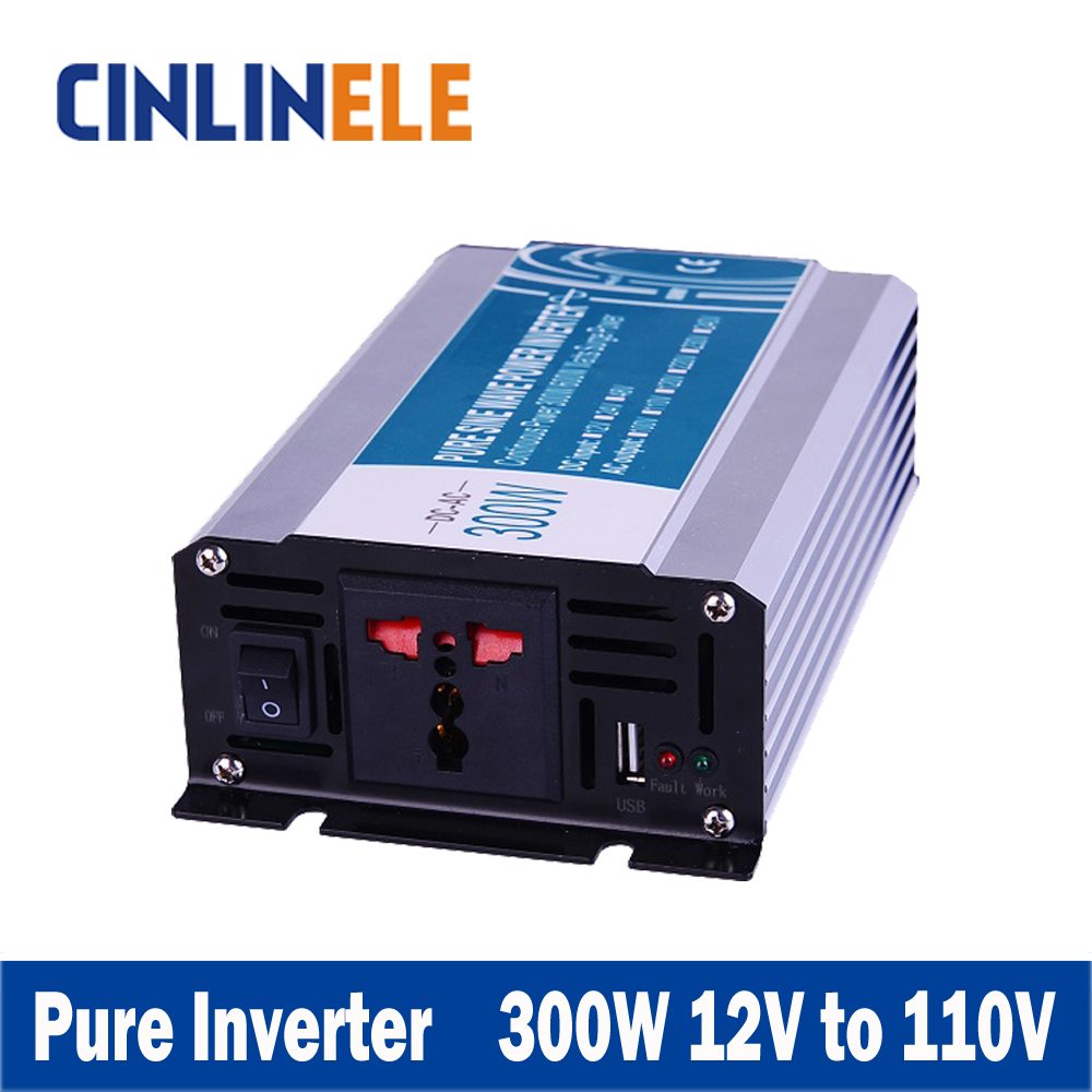 Smart Series Pure Sine Wave Inverter 300W CLP300A-121 DC 12V to AC 110V 300w Surge Power 600W<br>