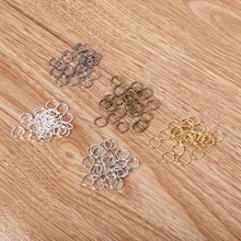 0.8*8mm 20 metal DIY Jewelry Findings Vintage Iron Open Jump Rings Split Ring jewelry making Necklace - Zone Beads store