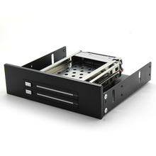 "In stock SATA HDD Mobile Rack internal 2 Bay 2.5"" HDD Enclosure for CD/DVD-ROM location free shipping"