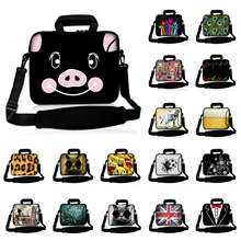 10 12 13 14 15 17 17.3 inch Neoprene Computer Pack For Toshiba Boy's Messenger Tablet PC Bag Girl's Shoulder Strap Laptop Cases