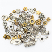 Mixed Size Nickel Free Silver Tone Leaf Rose Alloy Metal Loose Spacer Beads Diy Supplies Jewelry Making Needlework - ILOVEDIY Finding Store store
