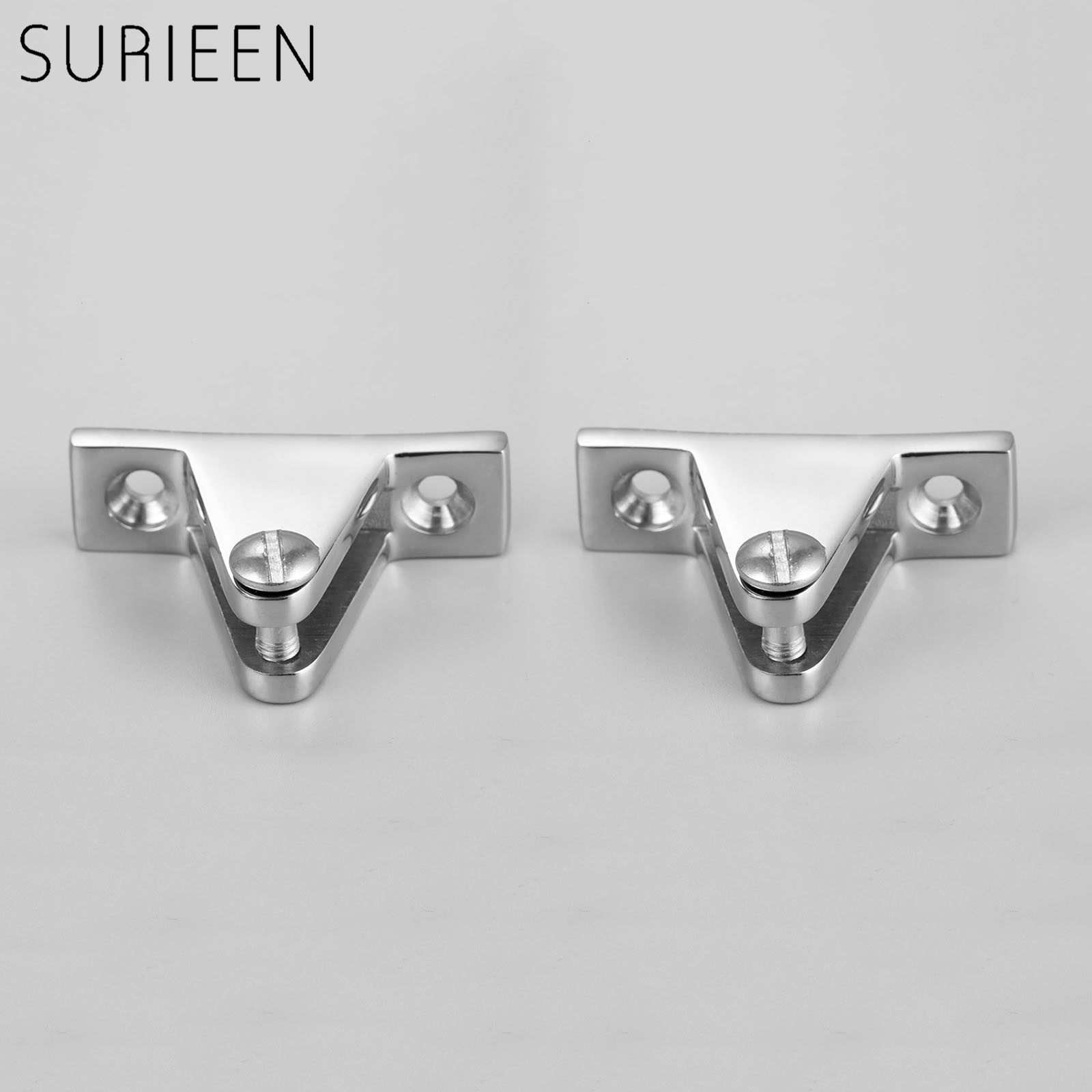 2Pcs Silver Marine Boat Cover Canopy Deck Hinge Top Fitting 90 Degree Pin Stainless Steel Hardware Hot Boat Accessories Marine