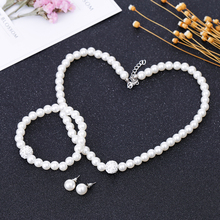 Pearl Jewelry Sets making Fashion Imitation Natural beads wedding jewellery set accessories Rhinestone Ball for women TOMTOSH