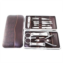Stainless Nipper Cutter Nail Clipper Pedicure Manicure Set Kit Case 12 in 1 Set Sale HS11(China)