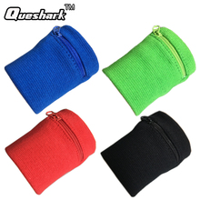 Zipper Pocket Sport Wristband Wrist Bracer Wrap Straps Bandage Gym Running Cycling Wrist Support Badminton Pipe Wrist SweatBand