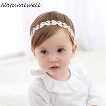 Naturalwell Child girls crown headbands Vintage golden headband Wedding birthday Gift Kids hairband princess crown hair HB049(China)