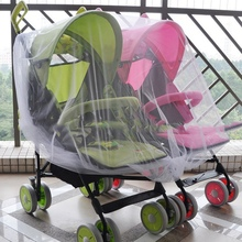 Newborn Twin Baby Stroller High Density Anti-Mosquito Nets Baby Car Twins Trolley Special Nets(China)