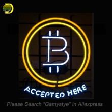 Buy Bitcoin Accepted Neon Sign Neon Bulb Sign Currency Lamps Recreation Coindesk Bank Light Handcrafted Clear Board 22x22 for $210.76 in AliExpress store