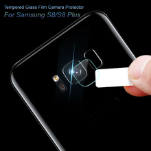 2pcs Clear Camera Lens Tempered Glass for Samsung Galaxy S8/S8 Plus Back Cover Phone Lens Screen Protector Film for Samsung S8