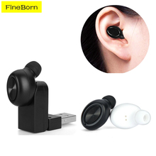 Noise Cancelling Mini Bluetooth Earphones Wireless Headset Invisible Handsfree Universal Bluetooth Wireless Tiny Earbuds(China)