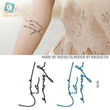 HC-06 Waterproof Fake Tattoo Stickers Women Harajuku Letters Love Is Enough Design Body Art Temporary Tattoo Sticker 2016 New