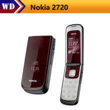 2720 Original Nokia 2720 Unlocked Cell Phone Bluetooth Jave One Year Warranty refurbished(China)