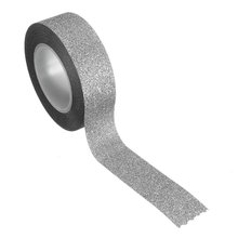 5 Pcs 10M Glitter Masking Tape Sticky Adhesive Stick Paper Decor DIY Craft silver