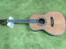 Factory Super luxury China classic acoustic guitar,AAA Solid Spruce top,Real Abalone binding and Ebony fingerboard,Free shipping(China)