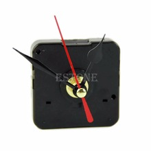 E74 Quartz Wall Clock Movement Mechanism Repair Tool Kit with Black & Red Hands