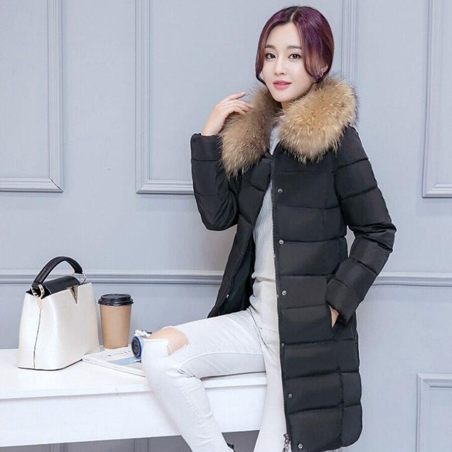 jacket winter women black Long Winter Jacket Women Slim Female Coat Thicken Parka Cotton Clothing Одежда и ак�е��уары<br><br><br>Aliexpress