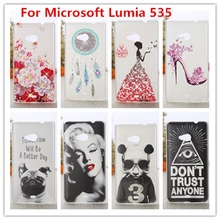 For Nokia Lumia 535  Case /Luxury Crystal Diamond 3D Bling Hard Plastic Cover Case For  Nokia Microsoft Lumia 535  Phone Cases