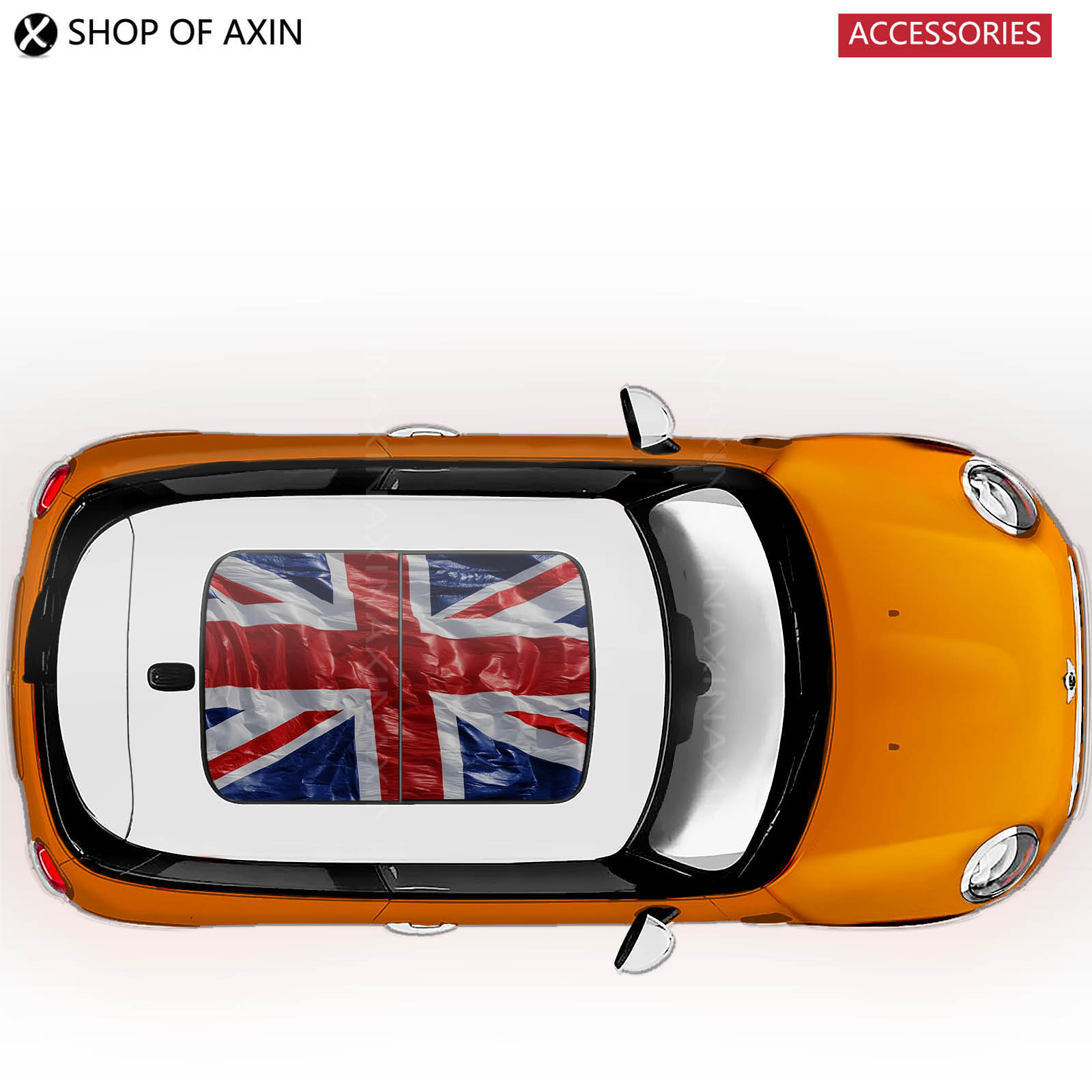 Wave Uk flag sun roof Graphics stickers Sunroof for MINI Cooper clubman countryman hardtop R50 R53 R55 R56 R60 R61 F54 F55 F56<br>