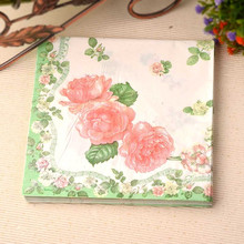 60pcs/lot New table napkins paper tissue servilletas decoupage  print flower pattern  party cocktail wedding decoration
