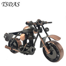 Decorative Handmade Iron Motorcycle Model Metal Art Craft Nice Personalized Gift Antique Decoration for Home