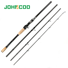 JOHNCOO Hot Selling Spinning Rod 2.1m 2.4m 2.7m 3m Carbon Fishing Rod Travel Rod Fishing Tackle Casting Rod Medium Fast 10-25g