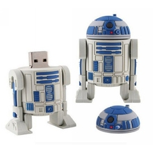 Pen Drive Star War Darth Vader 64GB Rubber USB Flash 2.0 Memory Drive Sticks Pen Disk R2 D2 Robot Gift Card Drivers Creativo Key