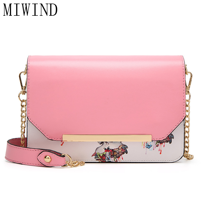 MIWIND Mini Flap Casual Floral Shoulder Bags Women High Quality Shoulder Bag Fashion Crossbody Bag woman Messenger bag TYS989<br>