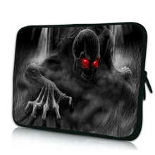 "Skull Mens New Laptop Portable Bag 7 Inch 10"" 12"" 13"" 13.3 14"" 15"" 17"" Laptop Sleeve Cover Neoprene Bags Cases Notebook PC Pouch"