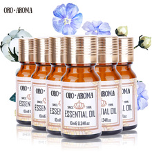 Famous brand oroaroma Musk Peppermint Verbena Grapefruit Ambergris Ginseng Essential Oils Pack For Aromatherapy Spa Bath 10ml*6(China)