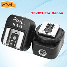 Pixel TF-321 E-TTL Flash Hot Shoe to PC Sync Socket Convert Adapter for Canon DSLRs and Flashguns TF321 Flash Hot Shoe Adapter