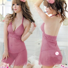 E221 Wholesale Backless Perspective Design Sleeveless Women Sexy Lingerie Chemise cheap sexy lingerie