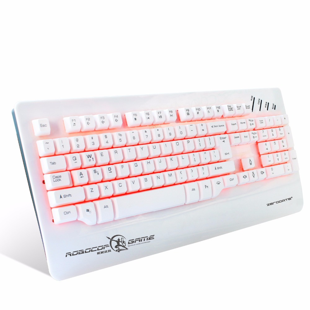 Gaming Keyboard Backlit Wired USB Mechanical Keyboard LED Ergonomics For Gamer Computer Laptop