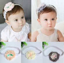 2015 cute baby flower Lace headbands girls/Infant hairbands kids head band children hair accessories