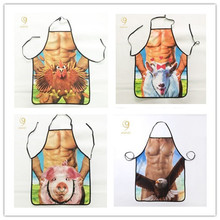2016 People and animals aprons personalized creative aprons Korean custom aprons foreign trade cute aprons sleeveless(China)