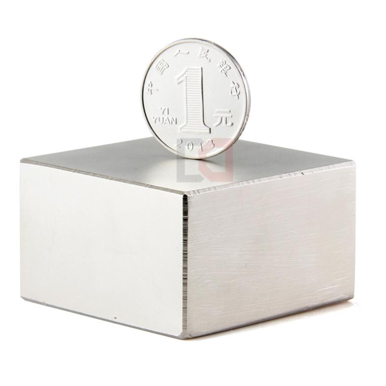 Free Shipping Neodymium Magnet Block 1pcs 50x50x30mm Rare Earth Strong Magnets Nickle<br>
