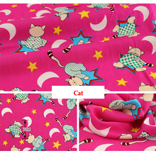 50cm*160cm/piece 100% Cotton Cat Printed Fabric for Baby Cartoon Bedding Textile Patchwork Quilt Sewing Fabric Material