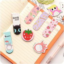 2 pcs/pack Cute Animals And Fruit Magnet Bookmark Paper Clip School Office Supply Escolar Papelaria Gift Stationery(China)