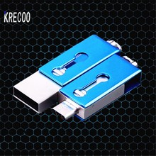 Fashion High Speed USB 2.0 Waterproof Mini  Portable Metal U Disk Flashdrive Storage 64GB 8GB 16GB 6GB 32GB Memory Stick