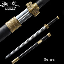Longquan sword home decoration Sword Damascus steel forging Of ebony sheath Chinese sword collectibles(China)