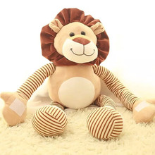 2016 New One Piece Lovely Lion Plush Dolls Stretched Hands&Feet Cartoon Lions Kids Toys Pillow Brinquedos Birthday Present