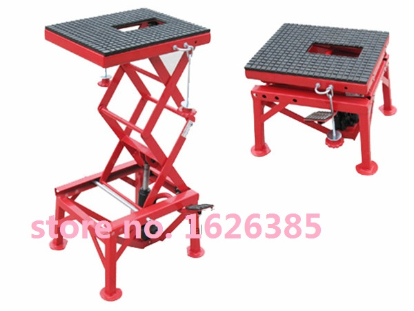 135KG Motorcycle scissor lift table lifting platform tire repair tools(China)