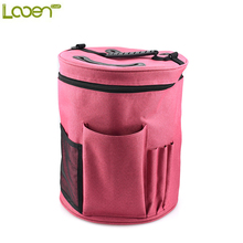 Looen Yarn Case Yarn Storage Knitting Yarn Bag Big Capacity Women Home Crochet Hooks Thread Yarn Storage Bag DIY Sewing Kit Bag(China)
