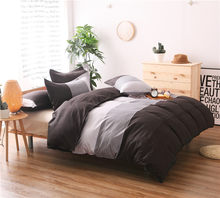 Brief Stripe Printing Duvet Cover Set 3pcs Bed Set Twin Double Queen size Bed linen Bedclothes bedding sets(No Sheet No Filling)(China)