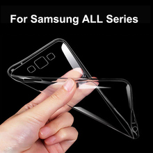 Transparent Clear Soft TPU Case For Samsung Galaxy Grand Prime A3 5 7 8 E5 7 S3 4 5 6 S7 Edge J3 5 7 (2015) Note 2 3 4 5 Plus