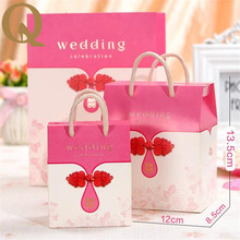 2017 new European candy box wedding sugar bag creative personality post hand candy box wedding gift box packaging paper box